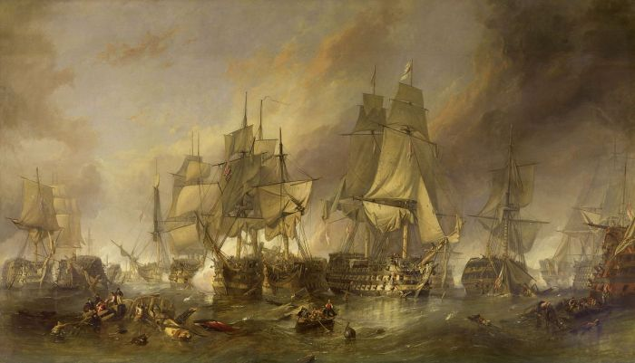 Clarkson Frederick Stanfield, The Battle of Trafalgar by William Clarkson Stanfield, 1836