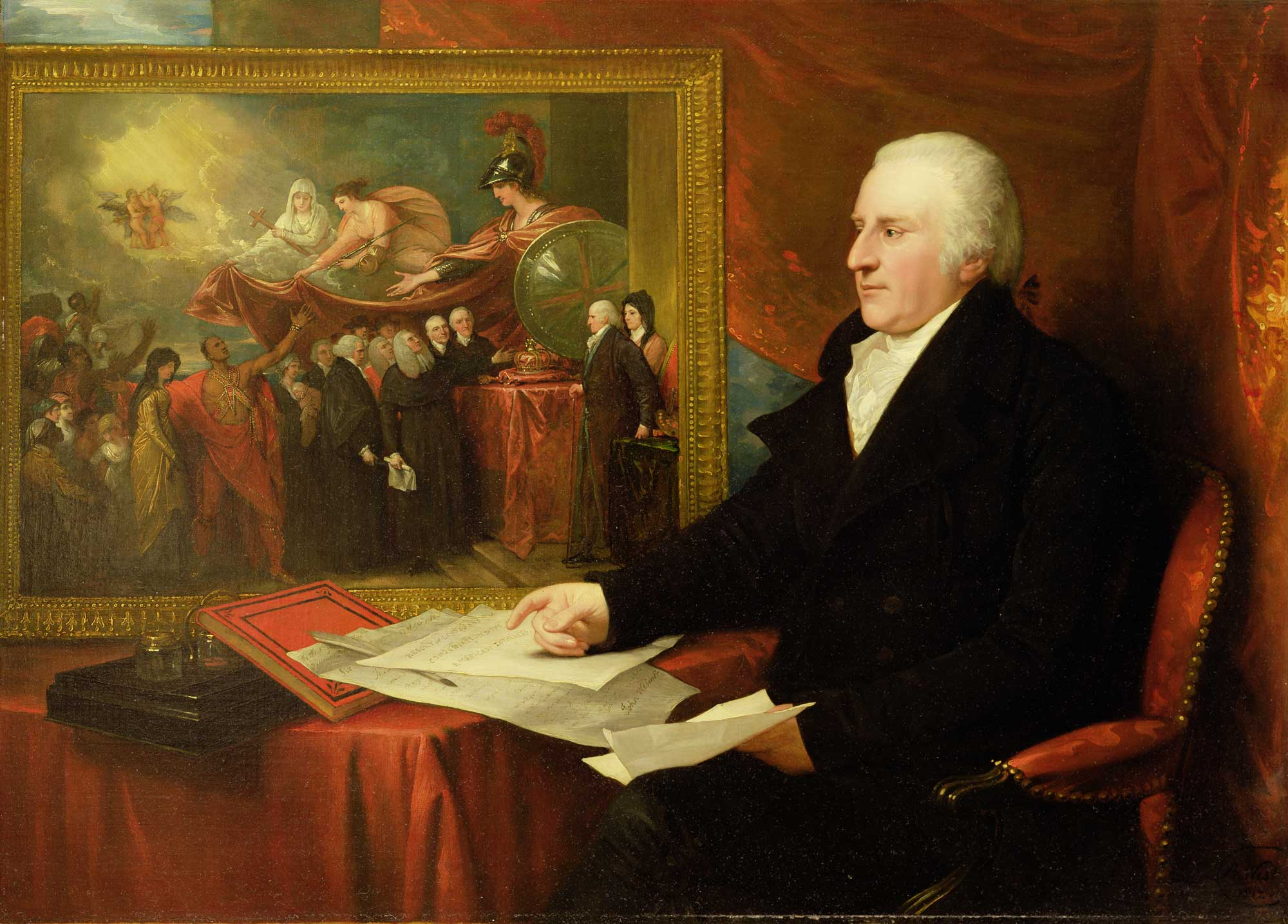 Benjamin West, John Eardley Wilmot, 1812 Yale Center for British Art, Paul Mellon Collection.