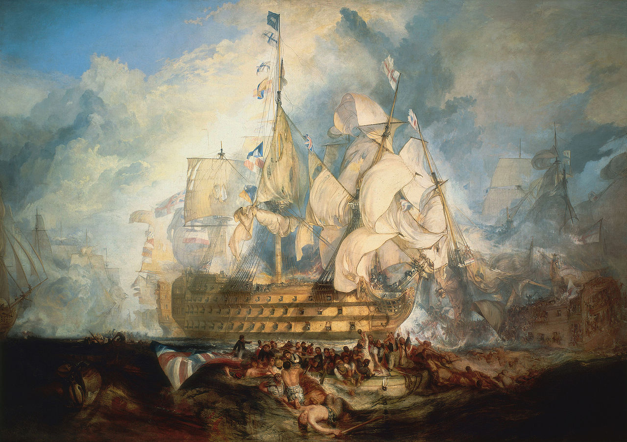J. M. W. Turner, The Battle of Trafalgar, 1822 National Maritime Museum, London