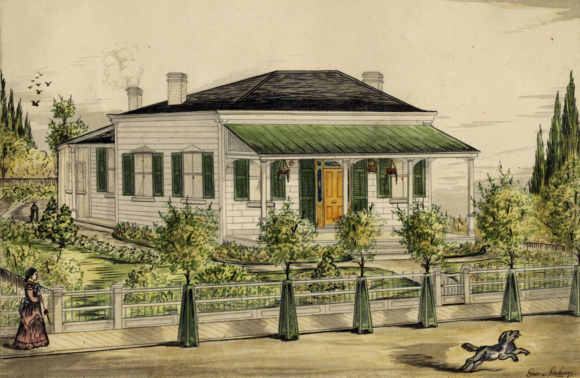Markland's Toronto home was located at the corner of York and Market, just blocks from the Parliament Buildings that housed the Office of the Inspector General. Testimony indicates that it was here that Markland would dine, consume alcoholic, and converse with young Toronto men. Credit: George Norbury, (1856), Toronto Public Library