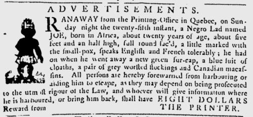 Quebec Gazette, January 29 1778