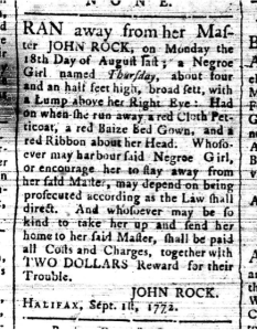 Nova-Scotia Gazette and Weekly Chronicle, Tuesday, 1 September 1772, Nova Scotia Archives