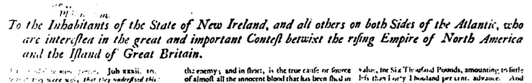 Lennox: EDITED McNutt, To the inhabitants of the State of Ireland