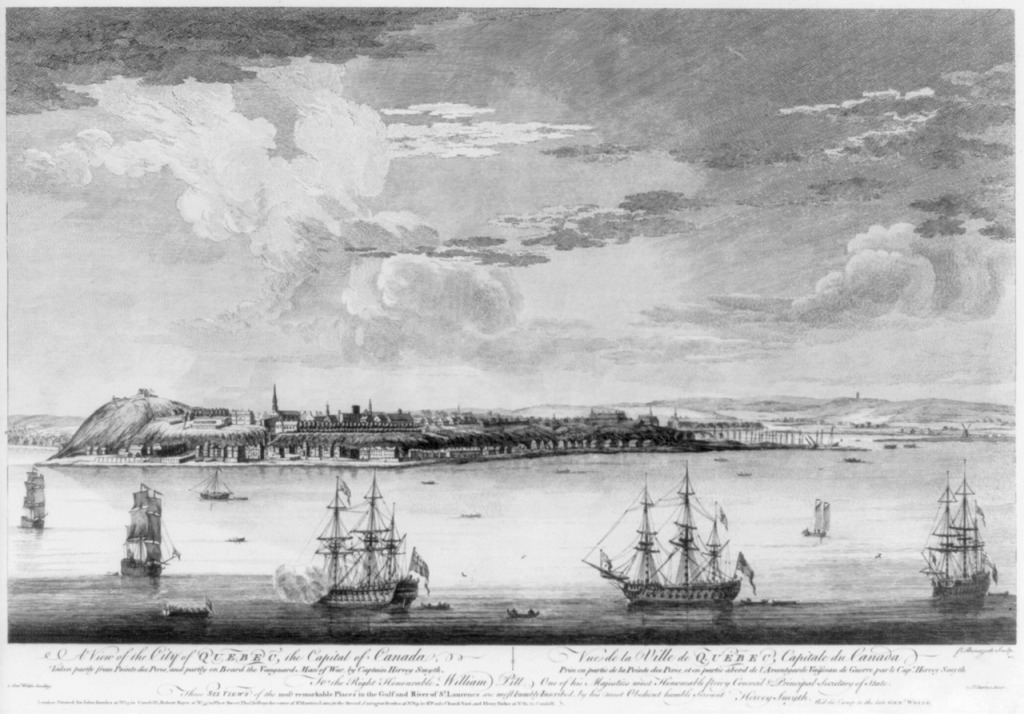 A view of the City of Quebec, by Hervey Smyth (1768). Library of Congress.